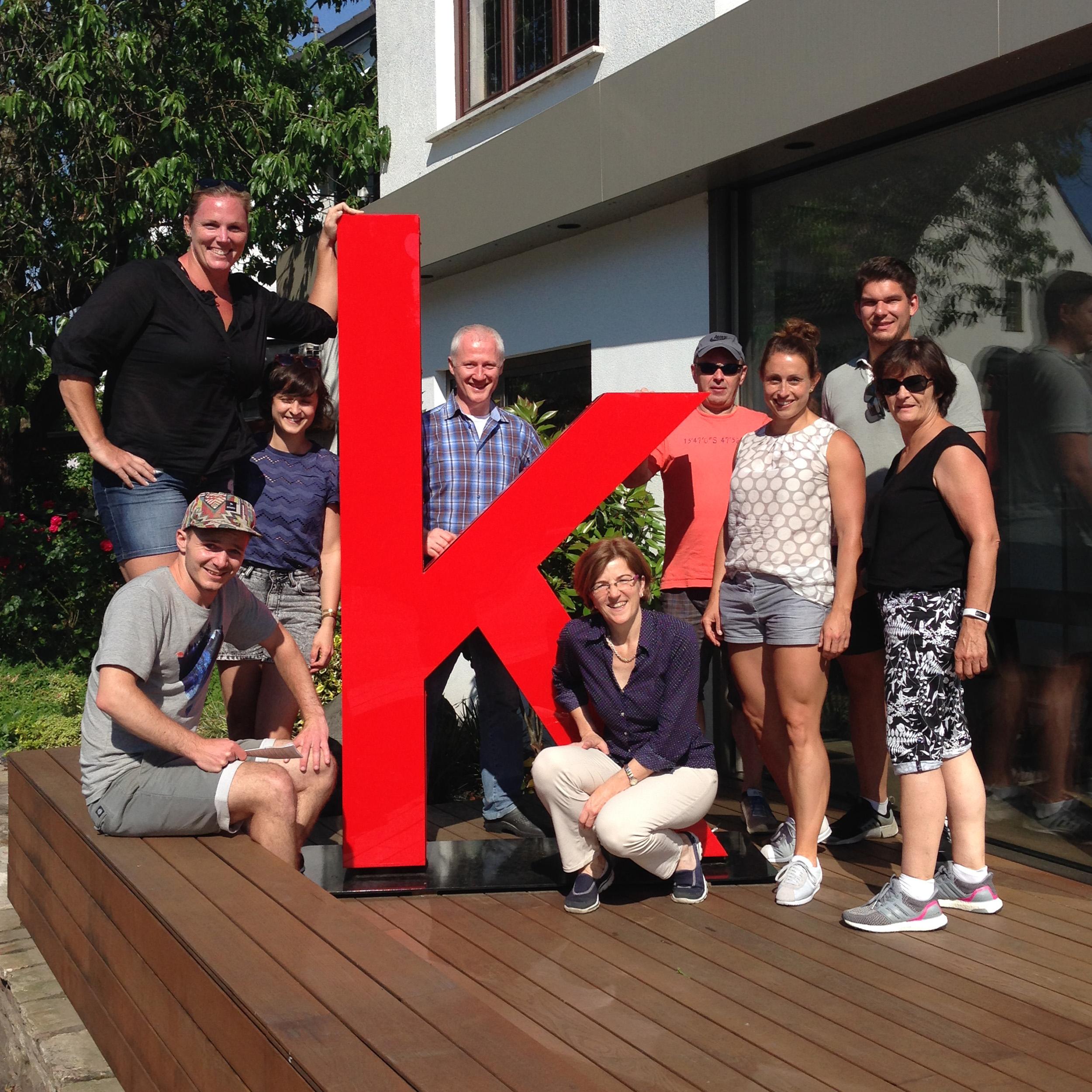 Katrin Klaas mit Partner und Familie